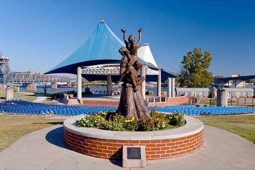 Stock Photo: 1566-585228 The outdoor ampitheater in Riverfront Park in downtown Little rock, Arkansas, USA