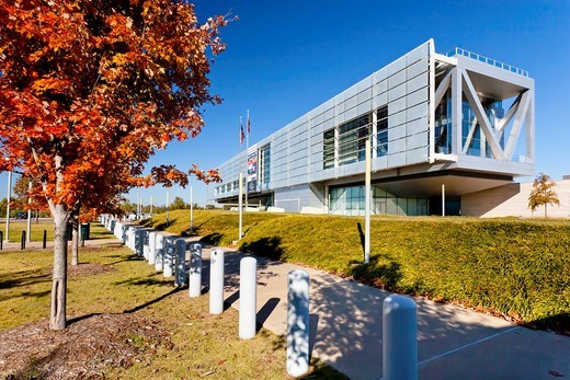 Stock Photo: 1566-585232 The William J Clinton presidential library in Little Rock, Arkansas, USA