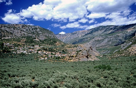 Elaionas village, Parnassos Mt., Greece : Stock Photo