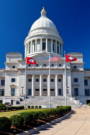 Stock Photo: 1566-585664 The Arkansas State Capitol building in Little Rock, Arkansas, USA