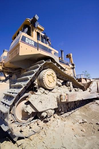 Caterpillar in Talvivaara mine, Sotkamo Finland : Stock Photo