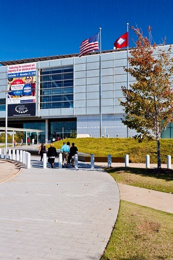 Stock Photo: 1566-586435 The William J Clinton presidential library in Little Rock, Arkansas, USA