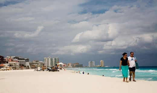 Stock Photo: 1566-587158 Cancun beach, Hotel Zone, Caribbean, Yucatan Peninsula, Mexico