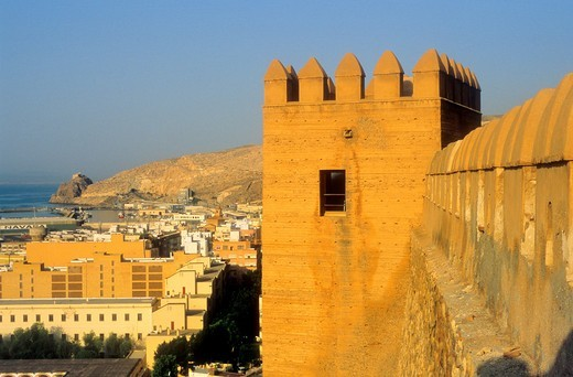 west of the city from the Alcazaba Almeria  Andalucia, Spain : Stock Photo