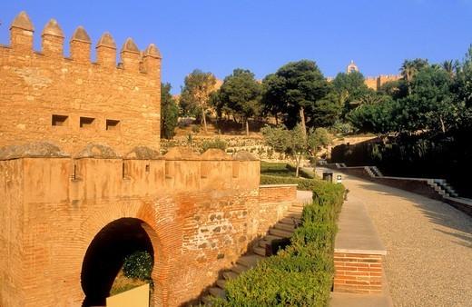 Interior of Alcazaba Almeria  Andalucia, Spain : Stock Photo