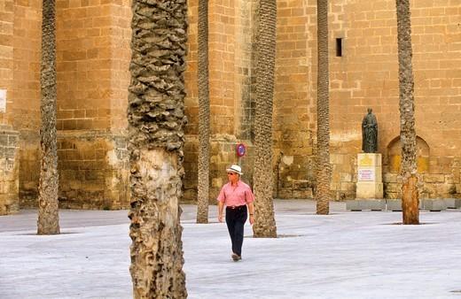 Cathedral square Almeria  Andalucia, Spain : Stock Photo
