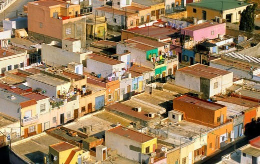 Neighborhood of la Chanca  Almeria  Andalucia, Spain : Stock Photo