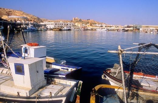 Stock Photo: 1566-588400 Fishing port Almeria  Andalucia, Spain