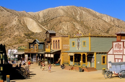 Desert of Tabernas Film set of at Mini Hollywood  Almeria province, Andalucia, Spain : Stock Photo