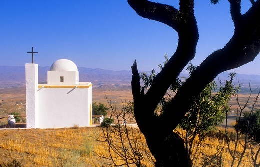 Turrillas Hermitage of 'San Antonio de Padua' Sierra Alhamilla Almeria province, Andalucia, Spain : Stock Photo