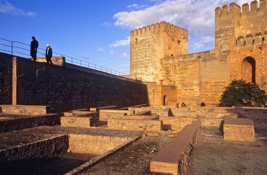 Stock Photo: 1566-588517 Alcazaba, Alhambra, Granada  Andalusia, Spain