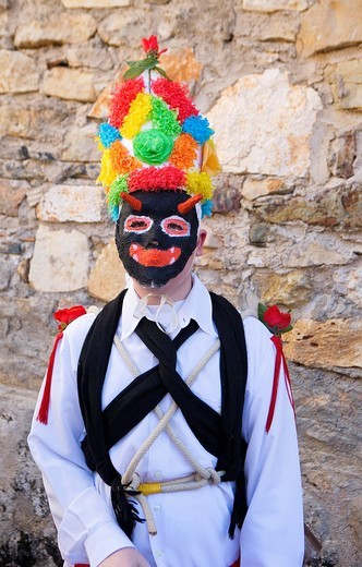 Botarga  Carnival, Almiruete  Tamajon, Guadalajara province, Castilla-La Mancha, Spain : Stock Photo