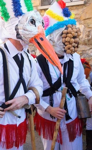 Botargas  Carnival, Almiruete  Tamajon, Guadalajara province, Castilla-La Mancha, Spain : Stock Photo