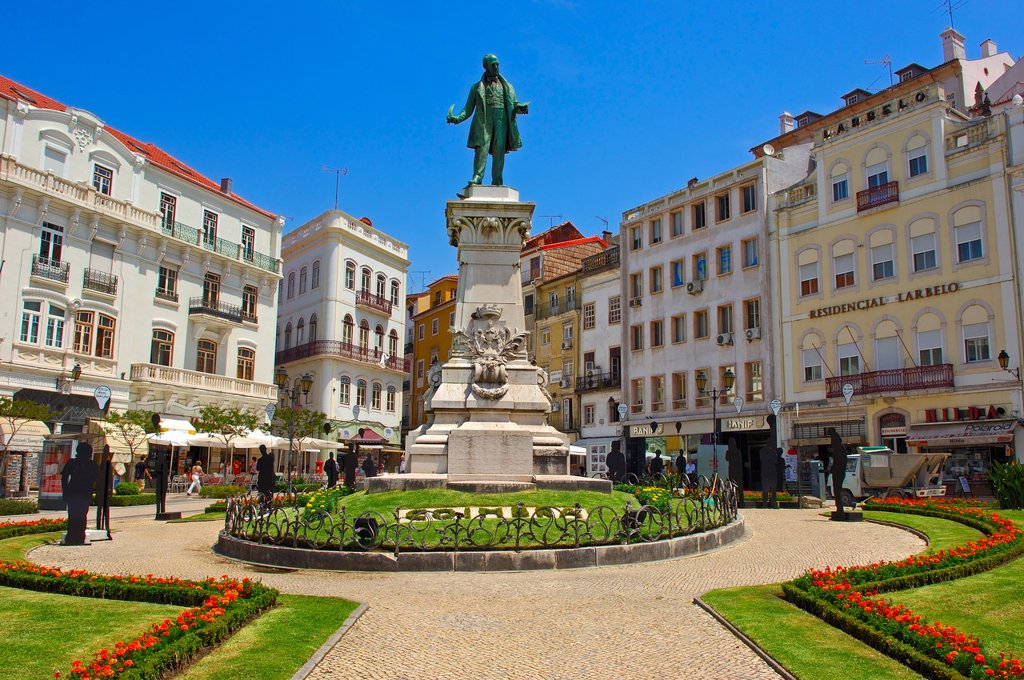 Coimbra, Largo da Portagem, Old town, Beira Litoral, Portugal, Europe. : Stock Photo