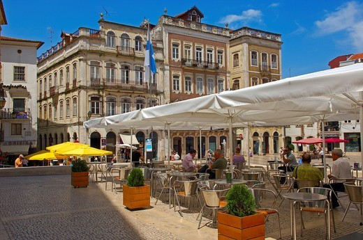 Coimbra, 8 de Maio Square, Praça 8 de Maio, Old town, Beira Litoral, Portugal, Europe : Stock Photo