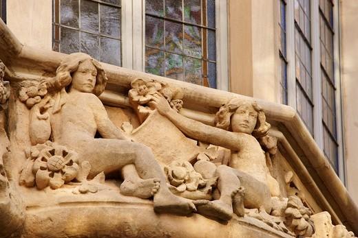 Grand Hotel Grand Hotel 1901-1903 Foundation la Caixa Palma Balearse Islands Mallorca Spain : Stock Photo