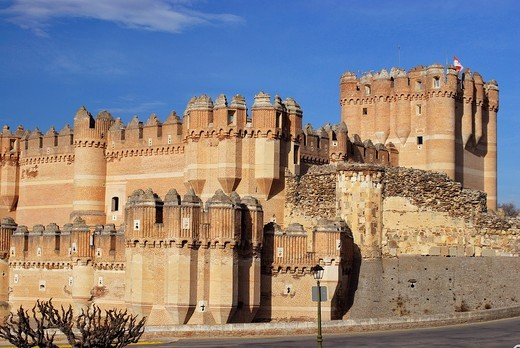 Castle Mudejar of Coca, Segovia, Spain : Stock Photo