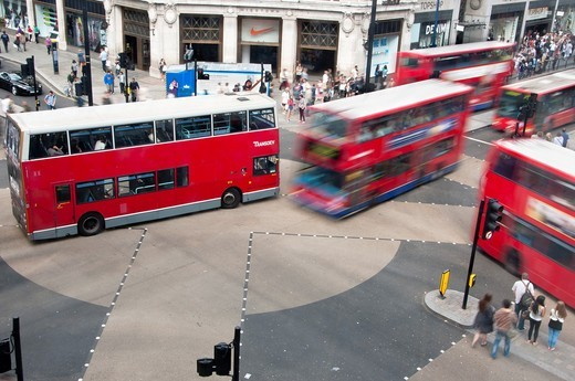 New pedestrian crossing at Oxford Circus, London, UK : Stock Photo