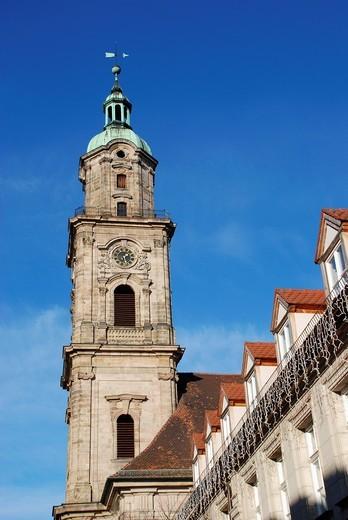 Stock Photo: 1566-592938 Tower of the Neustaedter Kirche in Erlangen