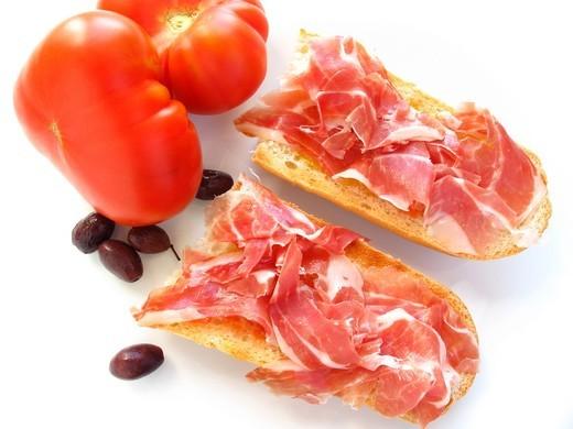 Ham and Tomato : Stock Photo