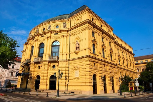 Szeged National Theatre exterior  Neo Baroque 1885  Hungary : Stock Photo