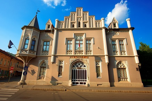 The Black House  Fekete Ház  - The Szeged Acadamy Commitee building : Stock Photo