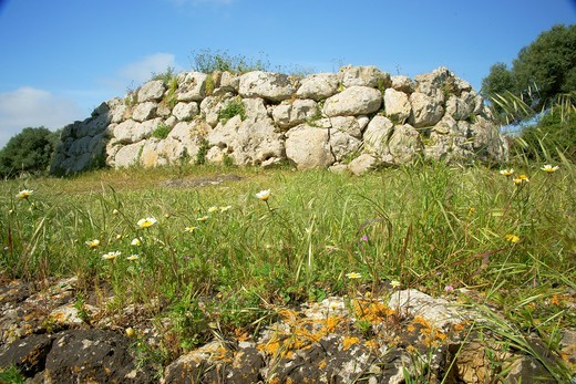 South Naveta Archaeological Rafal Rubi Menorca Biosphere Reserve Balearic islands Spain : Stock Photo