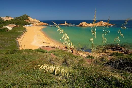 Menorca Cala Pregonda Biosphere Reserve Balearic Islands Spain : Stock Photo