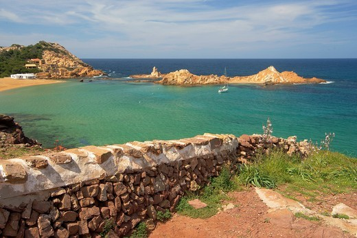 Stock Photo: 1566-594811 Menorca Cala Pregonda Biosphere Reserve Balearic Islands Spain