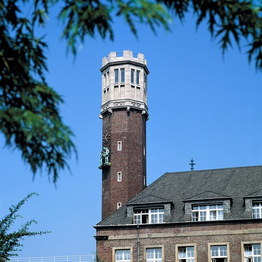 Germany, Cologne, Rhine, North Rhine-Westphalia, NRW, house Neuerburg, observation tower, administration building of Deutsche Telekom, former administration building of the cigarettes factory Haus Neuerburg : Stock Photo