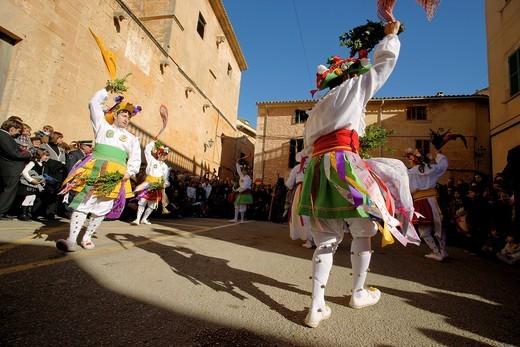 Stock Photo: 1566-595219 Dance of Cossiers Algaida Es Pla Mallorca Balearic Islands Spain