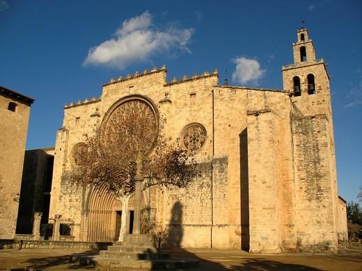 Monastery of Sant Cugat del Valles, Barcelona province, Catalonia, Spain : Stock Photo