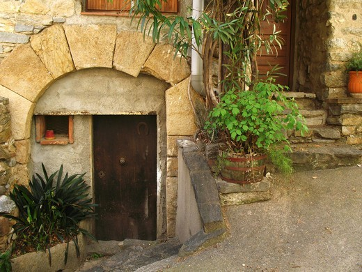 Corner of a village in southern France : Stock Photo