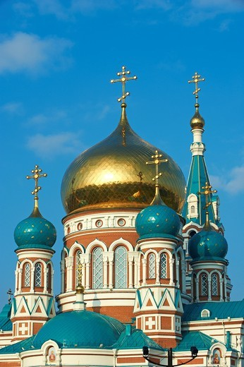 Stock Photo: 1566-596609 Russia, Siberia, Omsk, Dormition Cathedral