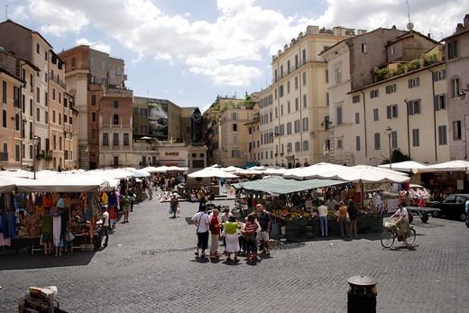Campo de Fiori Rome : Stock Photo