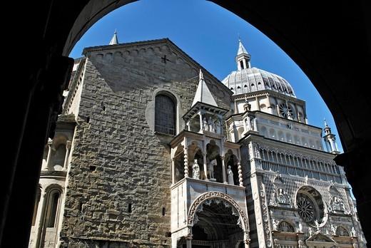 italy, Bergamo, S M Maggiore, colleoni chapel, : Stock Photo