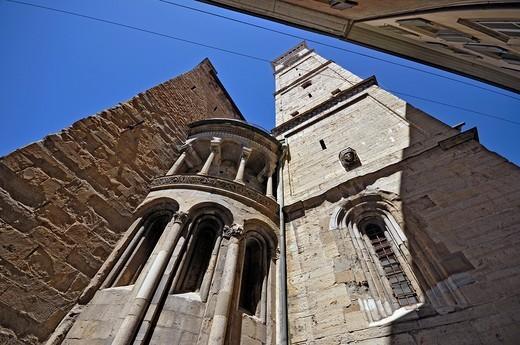 italy, Bergamo, S M Maggiore, detail, : Stock Photo