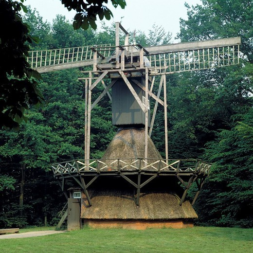Stock Photo: 1566-597482 Germany, Cloppenburg, Oldenburger Muensterland, Lower Saxony, Lower Saxon open-air museum, Kokerwindmuehle, windmill from D-Edewecht, Ammerland