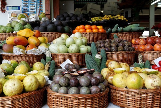 Portugal, Madeira, Funchal, the market : Stock Photo