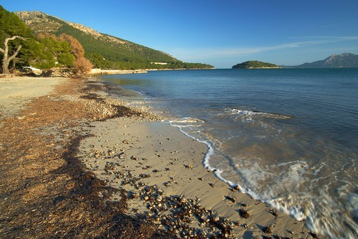Beach of Formentor Pollença Formentor Peninsula, Mallorca Spain Balearic Islands : Stock Photo