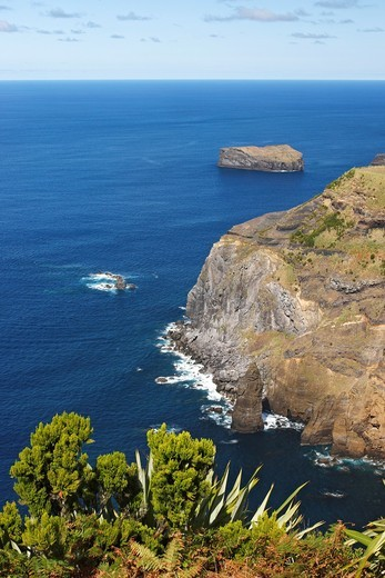 Atlantic coast near Mosteiros / Sao Miguel Island / Azoren / Portugal : Stock Photo