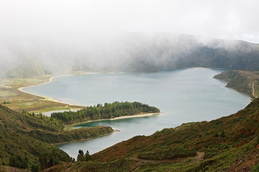 Lagoa do Fogo / Sao Miguel Island / Azores / Portugal : Stock Photo