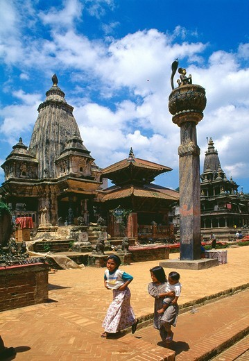 Temple at Durbar Square of Patan  Lalitpur  Kathmandu  UNESCO World Heritage Site  Nepal  Asia : Stock Photo