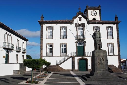Town Hall / Vila Franca do Campo / Sao Miguel Island / Azores / Portugal : Stock Photo