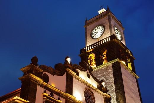 Stock Photo: 1566-601114 Church Sao Sebastiao / Ponta Delgada / Sao Miguel Island / Azores / Portugal