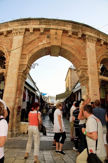Stock Photo: 1566-601420 The colorful souk in the old city of Jerusalem Israel