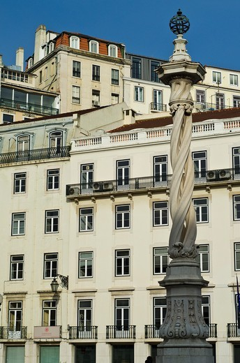 Stock Photo: 1566-601725 Do Municipio Square, Lisbon, Portugal