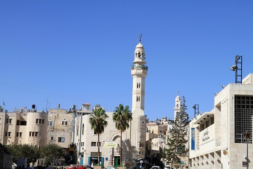 Israel Bethlehem Village Manger Square : Stock Photo
