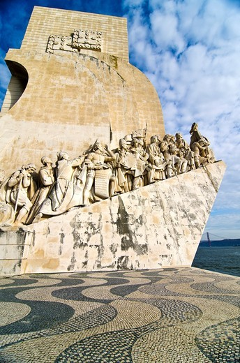 Monument to the Discoverers  Belem, Lisbon  Portugal : Stock Photo