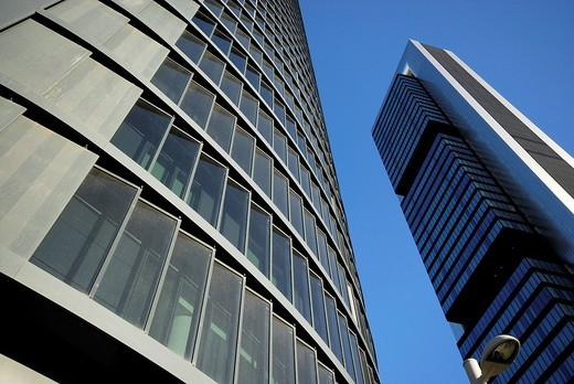 Stock Photo: 1566-602609 Detail of business towers in Castellana street, Madrid